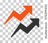 trends icon. vector... | Shutterstock .eps vector #570299353