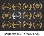 set of awards for best film ... | Shutterstock .eps vector #570301738