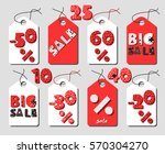cute sale sticker set  fun sale ... | Shutterstock .eps vector #570304270