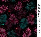 tropical seamless pattern with... | Shutterstock .eps vector #570305950