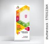 promo banner roll up design ...   Shutterstock .eps vector #570312364