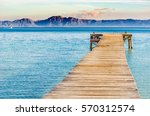 Beautiful Scenery With Jetty A...