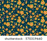 cute seamless pattern in small... | Shutterstock .eps vector #570319660