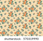cute floral pattern in the... | Shutterstock .eps vector #570319990