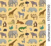 african animals pattern | Shutterstock .eps vector #570325930