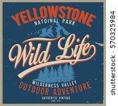 vintage vector of wilderness... | Shutterstock .eps vector #570325984