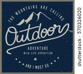 vintage vector of wilderness... | Shutterstock .eps vector #570326020