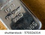 silver bullion bar. 1 kilo fine ... | Shutterstock . vector #570326314