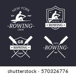 rowing team logo. vector emblem ... | Shutterstock .eps vector #570326776