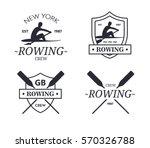 rowing team logo. vector emblem ... | Shutterstock .eps vector #570326788
