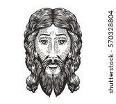 god sketch. jesus christ drawn... | Shutterstock .eps vector #570328804
