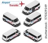isometric van. airport... | Shutterstock .eps vector #570329149