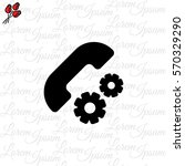 web icon. setting up call ... | Shutterstock .eps vector #570329290