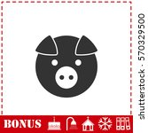 pig icon flat. simple... | Shutterstock . vector #570329500
