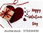 happy valentines day text sign... | Shutterstock . vector #570334450