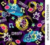 seamless pattern. creative... | Shutterstock .eps vector #570335434