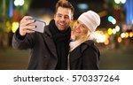 happy millenial couple having... | Shutterstock . vector #570337264