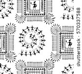 warli painting seamless pattern ... | Shutterstock .eps vector #570337588