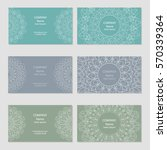 set of business cards with... | Shutterstock .eps vector #570339364