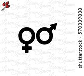 web line icon. gender symbol ... | Shutterstock .eps vector #570339838