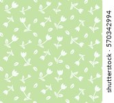 vector floral seamless pattern... | Shutterstock .eps vector #570342994