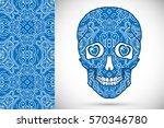 day of the dead sugar skull... | Shutterstock .eps vector #570346780