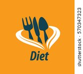 vector logo for diet | Shutterstock .eps vector #570347323