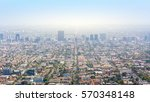 los angeles with urban buildings | Shutterstock . vector #570348148