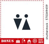 bathroom icon flat. simple...
