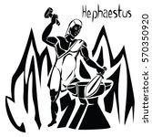 greek god hephaestus or vulcan... | Shutterstock .eps vector #570350920