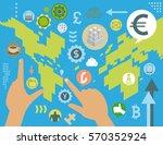 virtual currency exchange... | Shutterstock .eps vector #570352924
