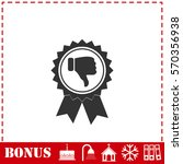 not recommended award icon flat.... | Shutterstock . vector #570356938