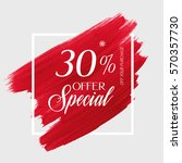 sale special offer 30  off sign ... | Shutterstock .eps vector #570357730