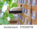 the image of library catalog | Shutterstock . vector #570358798