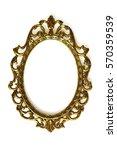 empty baroque picture frame... | Shutterstock . vector #570359539