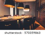 interior of restaurant with big ... | Shutterstock . vector #570359863