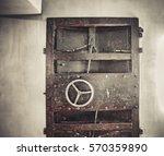 old rusty metal door | Shutterstock . vector #570359890