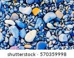 full frame shot of pebbles on... | Shutterstock . vector #570359998