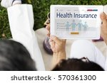 insurance coverage mix...   Shutterstock . vector #570361300
