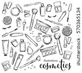 illustration set of cosmetics ... | Shutterstock .eps vector #570365134