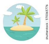 summer landscape of the... | Shutterstock .eps vector #570365776