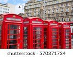London Old Red Telephone Boxes...