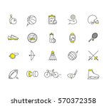 modern thin line icons set of... | Shutterstock .eps vector #570372358