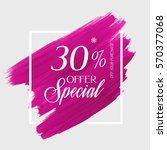 sale special offer 30  off sign ... | Shutterstock .eps vector #570377068