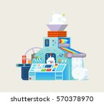 vector creative print with gift ...   Shutterstock .eps vector #570378970