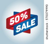 50  sale arrow sign icon.... | Shutterstock .eps vector #570379990