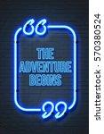 the adventure begins   vintage... | Shutterstock . vector #570380524