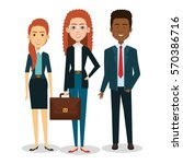 business people avatars icon | Shutterstock .eps vector #570386716