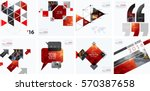 Business vector design elements for graphic layout. Modern abstract background template with red rectangles, geometric shapes for PR, business, tech in clean minimal style. Mega set. | Shutterstock vector #570387658