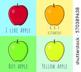 set of vector apples. set of...